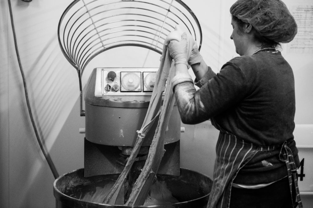 Mixing dough at Leeds Bread Co-op (photo credit: © Joanna Ritchie Photography)